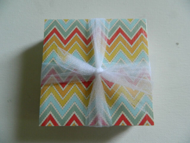 Multi Colored Chevron Coasters Gray, Christmas, Easter, Blue, Green, Indie
