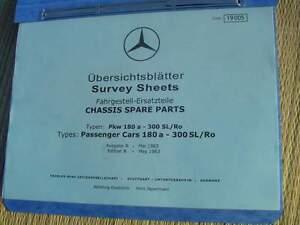 Details about Mercedes W121 190 b c CHASSIS SPARE PARTS LIST Dealer Multi  Model Parts MANUAL