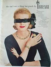 1957 Trifari Garden of Eden collection necklace earrings bracelet pin jewelry ad
