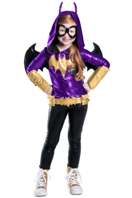 Big Girls Yellow Black Dc Super Hero Premium Batgirl Halloween