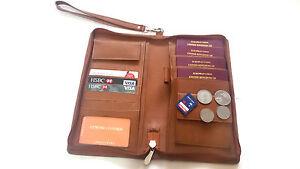 Akshide Genuine Leather Travel Wallet Family Travel Wallet