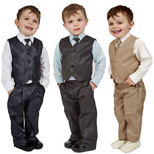 Suits Colours Boys Suits 4 Piece Waistcoat Suit Wedding Page Boy Baby Formal .