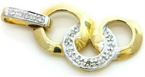 Genuine 12 Diamond 9K 9ct 375 Solid gold Pendant - 30 Day Returns