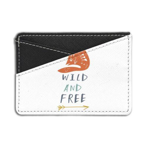 Wild And Free Fox Carte de crédit titulaire Wallet-S6564