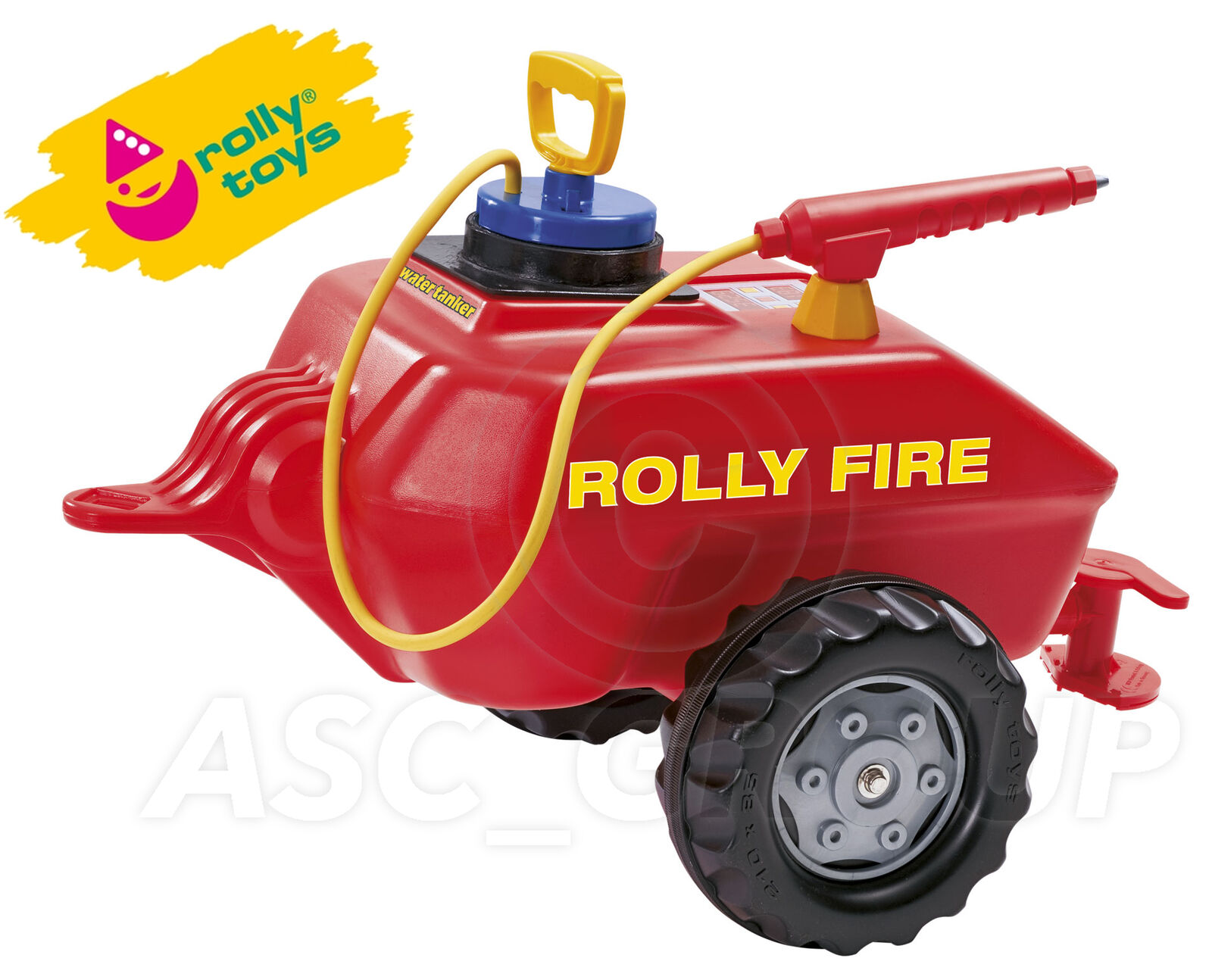 Rolly Juguetes - Vacumax Fire Trailer Agua Cisterna con Rociador para Tractores