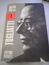 TOGLIATTI - OPERE 1917-1926, Volume 1, Ed. Riuniti/Ist. Gramsci, 1967, 1° ediz.