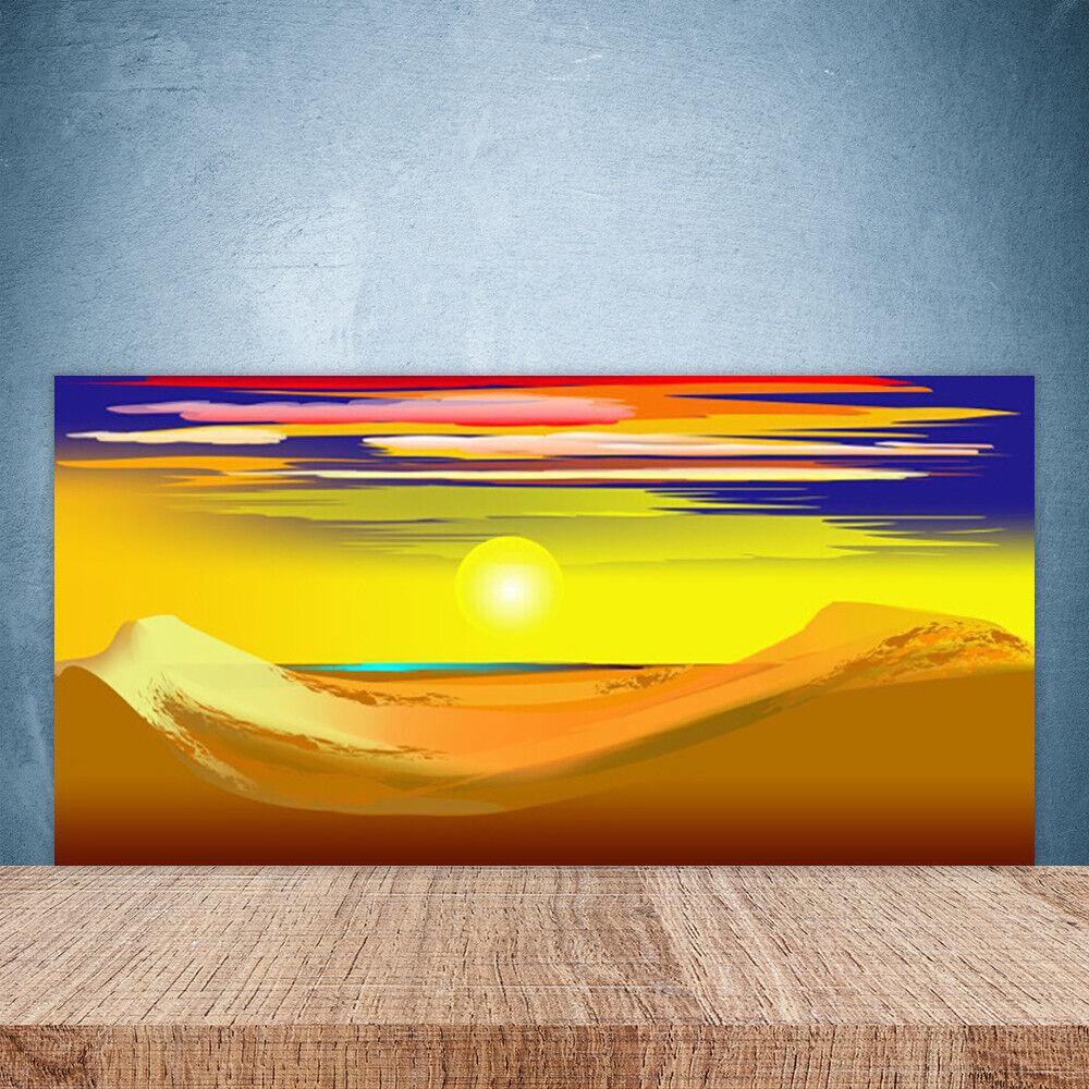 Crédence de cuisine en verre Panneau Paroi 100x50 Art Désert