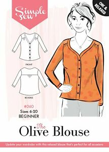 Womens-BEGINNER-The-Simple-Sew-Olive-Blouse-UK-SIZES-6-20-Ladies-Sewing-Pattern