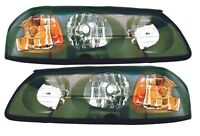2002 Chevy Impala Both Left & Right Pair Of Headlamps Free Shipping