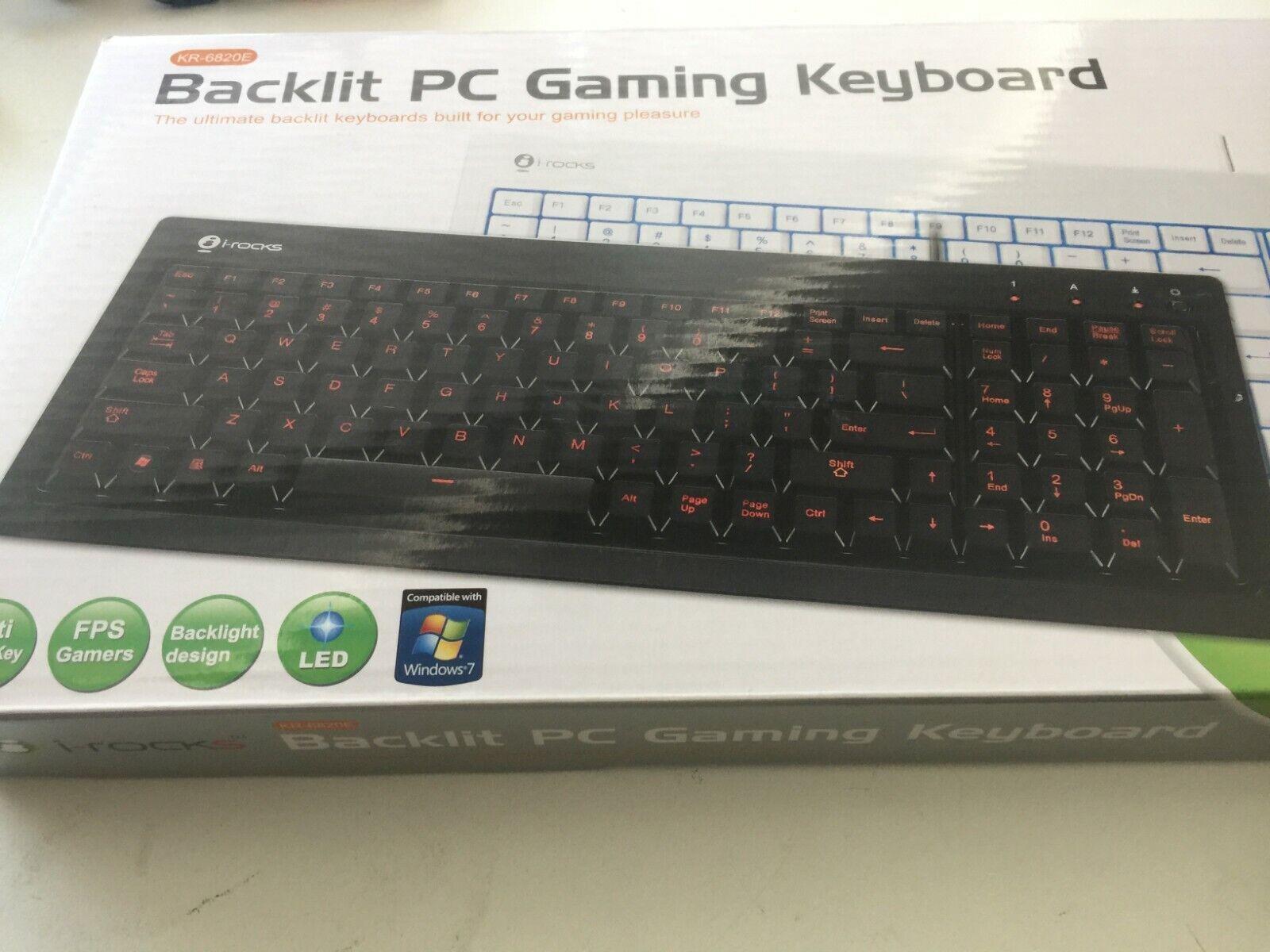 I-Rocks KR-6820E Compact USB Keyboard KR-6820E-WH