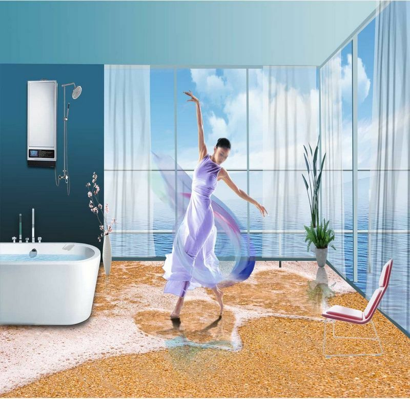 3D water sand love 16 Floor WallPaper Murals Wall Print Decal 5D AJ WALLPAPER