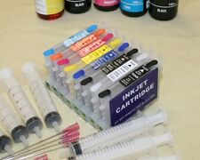 Non-oem 8 Empty Refillable ink cartridge kits set for with EPSON R800 R1800 CISS