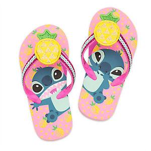 774cd85a4 NWT Disney Store Stitch Flip Flops Sandals Shoes Girls Lilo   Stitch ...