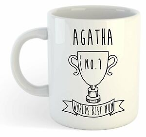 Agatha - Monde Meilleure Maman Trophy Tasse - pour Cadeau de Fête des Mères - LJjRivqD-09154459-890231968