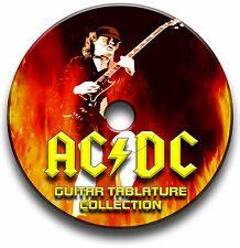 AC/DC ROCK GUITAR TABS TABLATURE SONG BOOK ANTHOLOGY SOFTWARE CD