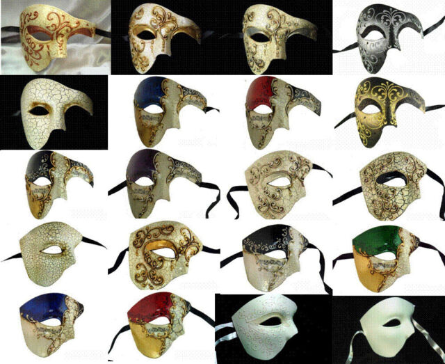 PHANTOM OF THE OPERA VENETIAN MASQUERADE MARDI GRAS COSTUME HALF MASK  MUSICAL