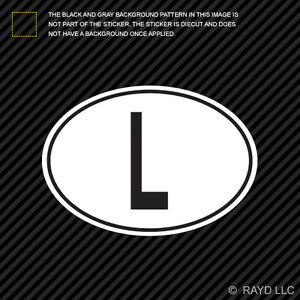 Image Is Loading L Luxembourg Country Code Oval Sticker Decal Self
