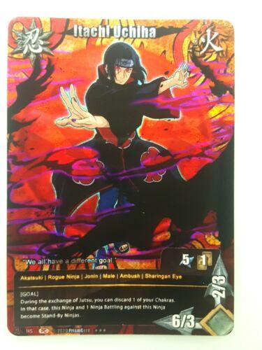 - Limited Naruto Fan 9 PrismCard Custom Card Game CCG Itachi Uchiha