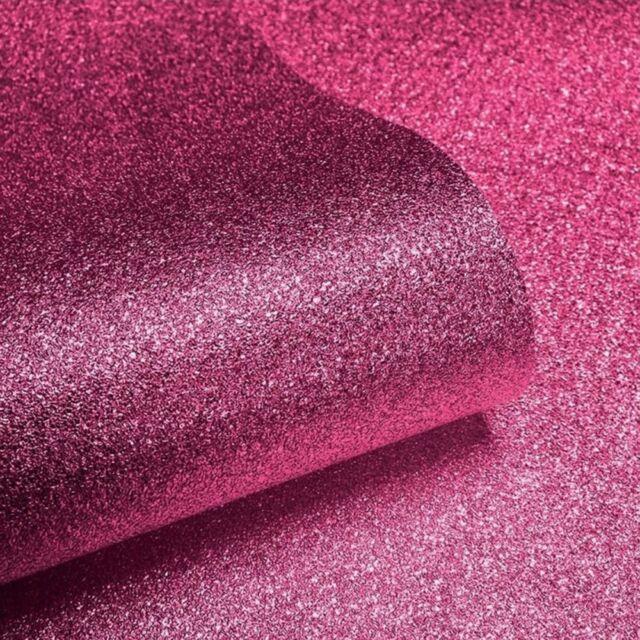 Muriva Tapete Pink/hot Pink Sparkle Glitter Strukturtapete 701356 Effekt