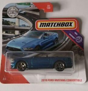 2018-Ford-Mustang-Convertible-Matchbox-MBX-Highway-54-100-2020-Mattel-Nuevo