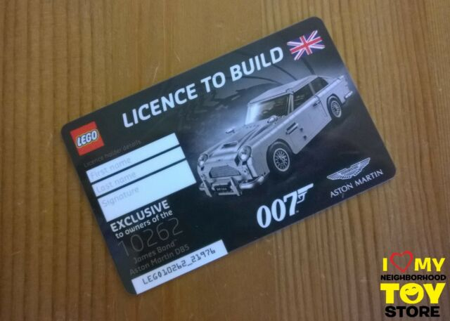RETIRED - LEGO 5005665 EXCLUSIVE LICENCE TO BUILD ASTON MARTIN DB5 (2018) - NEW