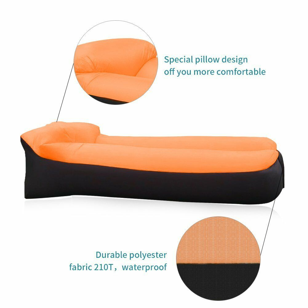 Inflatable Air Sofa Bed Lazy Sleeping Camping Beach Bag Couch