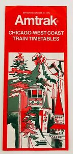 Amtrak-Chicago-West-Coast-Train-Timetables-October-1976