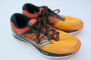 Saucony Running Shoes 10.5 Ten 12 Black Gray Red 44.5