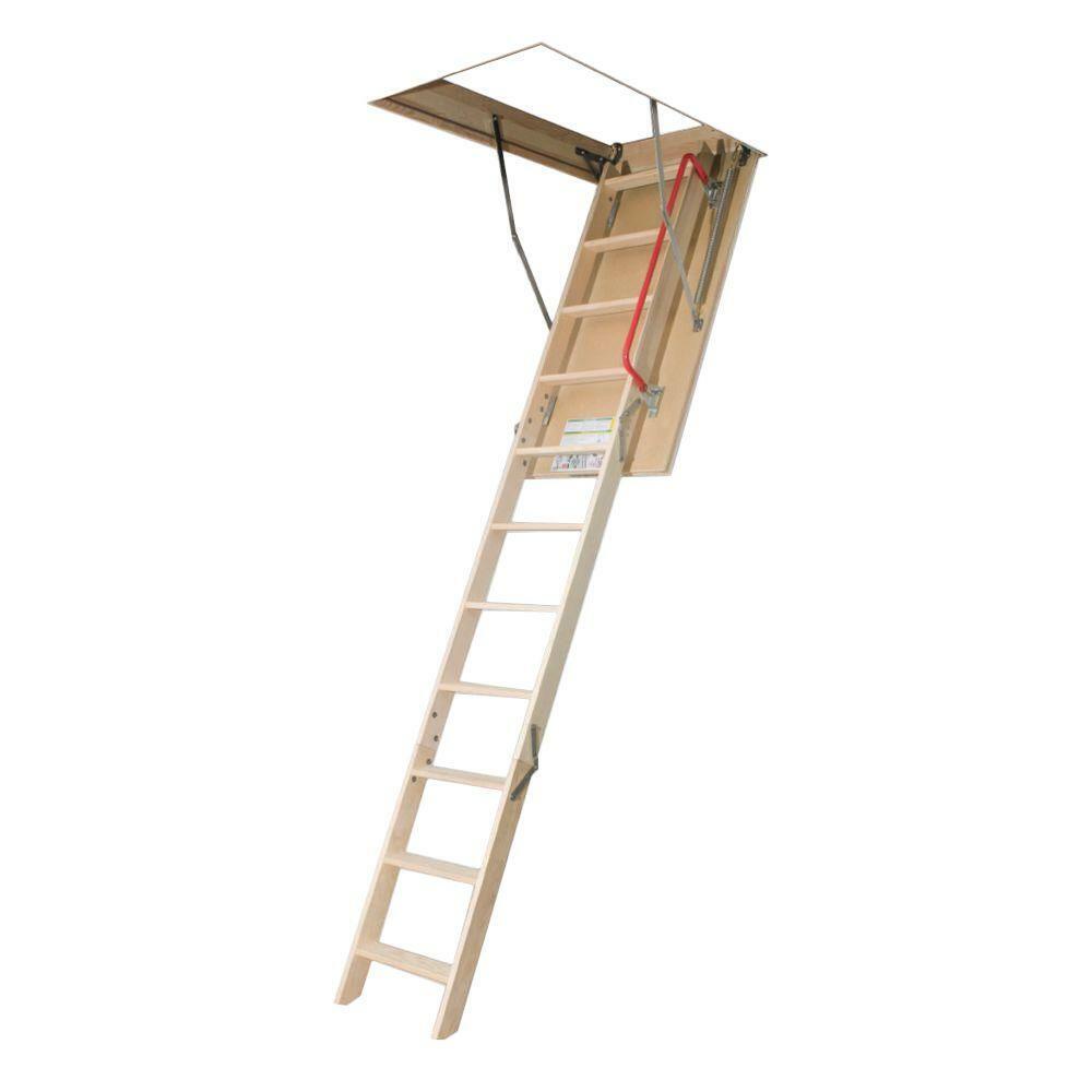 Fakro Attic Ladder Insulated Wood Durable Adjustable Anti Slip 300 lb. 8 ft.
