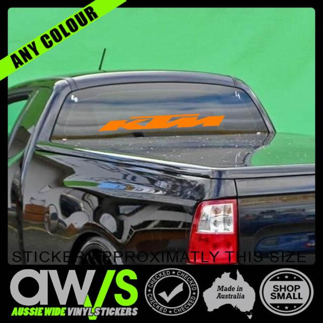 Ktm sticker decal for motocross car mx racing window banner large trailer