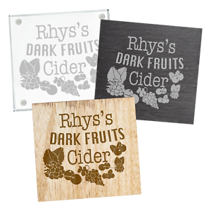 Image Is Loading Personalised Engraved Dark Fruits Cider Coaster Birthday Gift