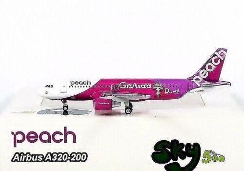 SKY500 Peach Aviation A320-200 1:500 Girls Award Reg JA809P 0794