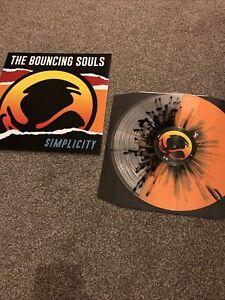 Bouncing Souls Simplicity Clear Orange Splatter Vinyl LP Punk