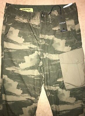 G STAR RAW tarrick loose 30Reg 32 Vert Olive Camouflage TAPERED pantalon cargo | eBay