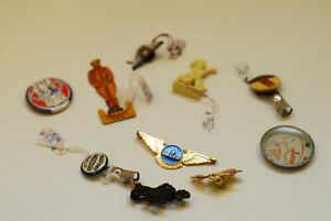10 Pc Super Junk Drawer Lot Advertising Pin Back Buttons W@W  Lot 6