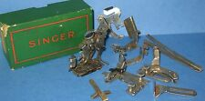 LOT OF 10 VINTAGE SINGER SEWING MACHINE PARTS IN BOX 120607 FEET AND MORE