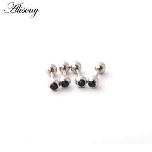 Lot 2pcs CZ Steel Tragus Helix Cartilage Upper Ear Piercing Bar Studs Earring
