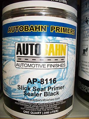 Black Slick Seal Primer Sealer Ready to Spray 1 Gallon Auto Car Truck Paint Kit