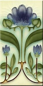 Art Nouveau Reproduction 3 X 6 Inches Ceramic Wall Tile #000018