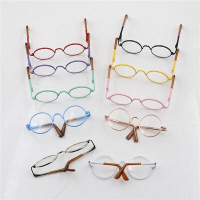 Round Frame Clear Lens Eyewear Glasses for 12/'/' Blythe Dolls Accessory VU