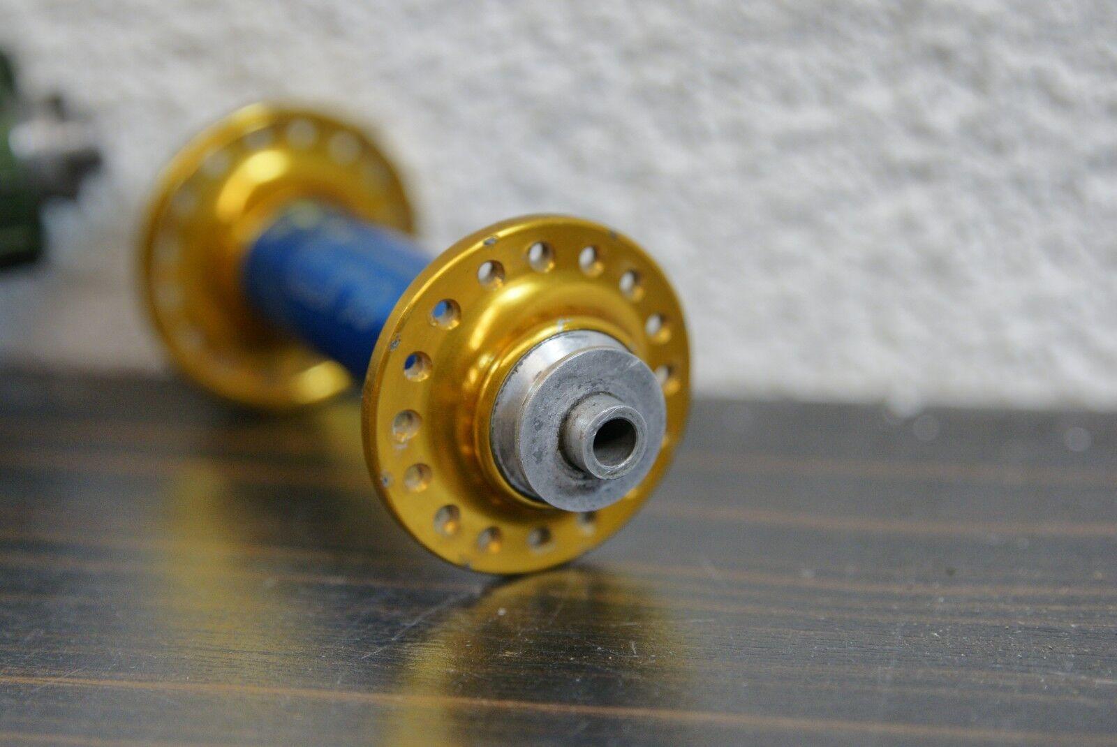 Tune Naben Satz Satz Satz 32 Loch zweifarbig Blau Gold Kult Retro traumhafter Zustand ace3b3