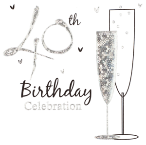 Multi Pack 36 Holographic 40th Birthday Party Card Invitations /& Envelopes