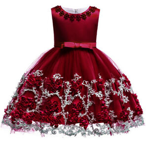 59583e9a25fdb Flower Girl Dress for Baby Kid Baptism Christening Wedding Birthday ...