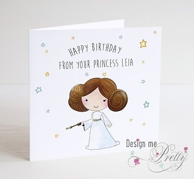 STAR WARS PRINCESS LEIA Birthday Card