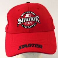 Red Starter Athletic Hat Acrylic/wool Blend Boys Adjustable Back Strap