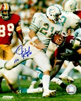 Signed 8x10 JIM KIICK Miami Dolphins Autographed photo  w/COA