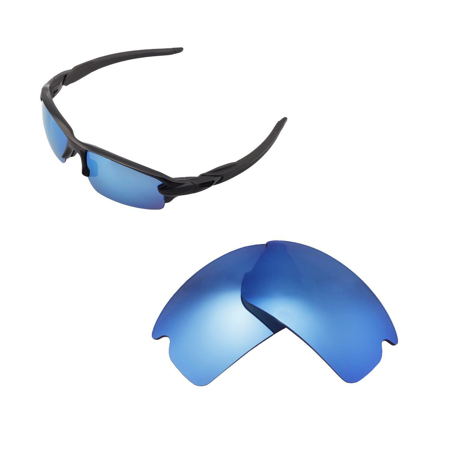 1abe010d7aba2 Walleva Polarized Ice Blue Replacement Lenses for Oakley Flak 2.0 Sunglasses