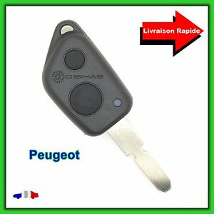 Coque-Telecommande-Plip-2-Bouton-Cle-Pour-Peugeot-406-Lame-vierge