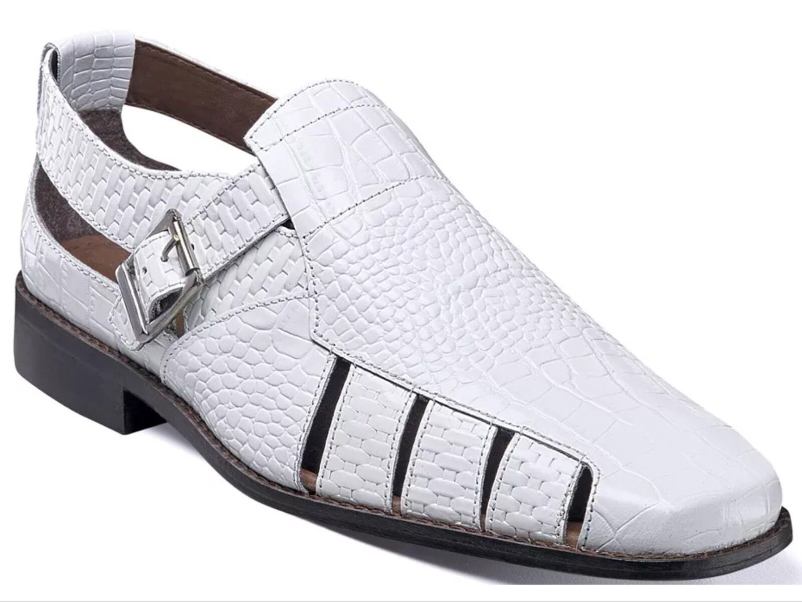 Stacy Adams Men's Sacchi Classic Closed Back Fisherman Sandals White 25035 New