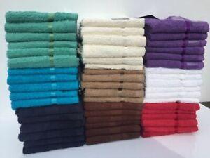 12-X-100-Algodon-Egipcio-Cara-Panos-Toallas-de-lavado-suave-Franelas-30x30cm-9-Colores